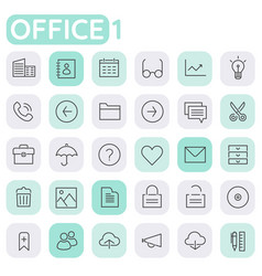 Inline baicons collection trendy linear icons vector