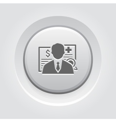 Insurance agent icon grey button design vector