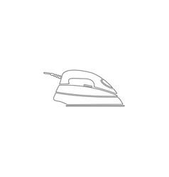 Iron flat icon vector