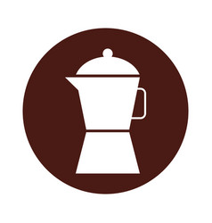 Kettle kitchen isolated icon vector