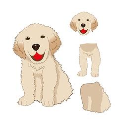 Labrador Golden Retriever Dog vector