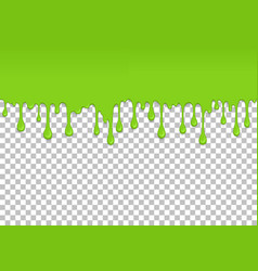 Light green dripping slime seamless element vector