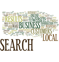 Local search makes your business a big fish in vector
