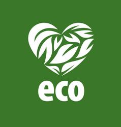 Logo eco vector