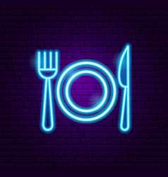 menu food neon sign vector image