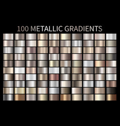 metallic bronze silver gold chrome metal foil vector image