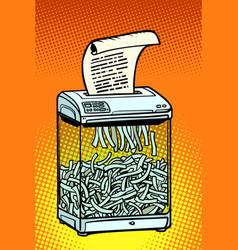 Paper shredder office appliance secret vector