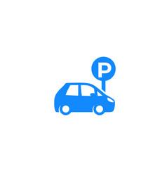 Parking spot icon vector