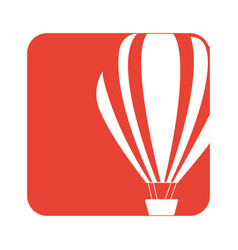 picture fly balloon transport vector image vector image