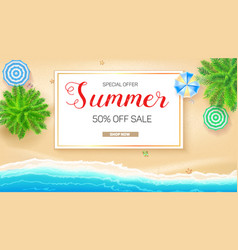 poster summer sale action get up to fifty vector image