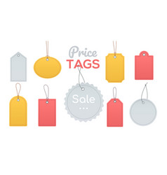 price tags collection - flat design style clip art vector image