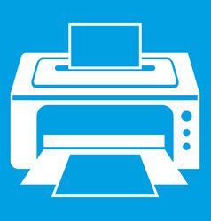 Printer icon white vector