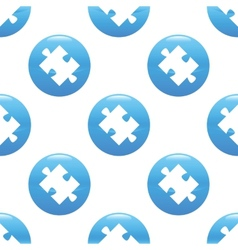 Puzzle piece sign pattern vector