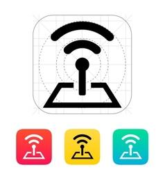 Radio tower base icon vector image