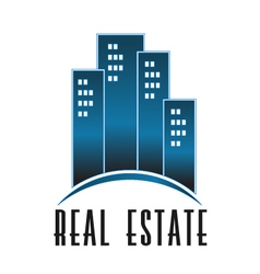Real Estate group of towers logo vector