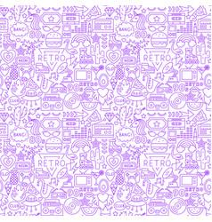 Retro fashion line seamless pattern vector
