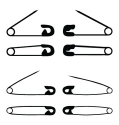 safety pin vector image
