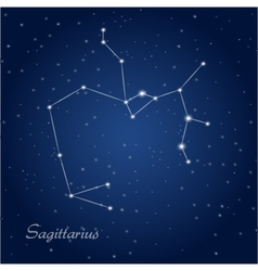 Sagittarius constellation zodiac vector