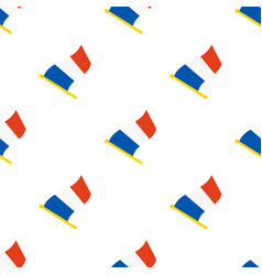 seamless pattern with flags france vector image