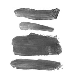 set with gray abstract stain isolated on white vector image