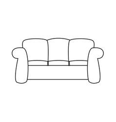sofa furniture comfort interior decor vector image