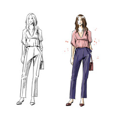 Street look casual style fashion vector