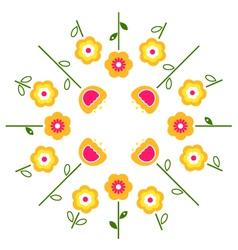stylized retro flowers vector image vector image