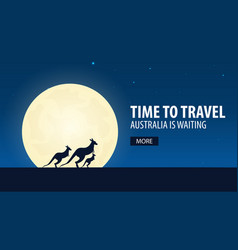 time to travel travel to australia australia is vector image