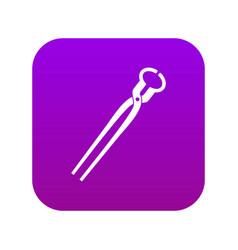 Vintage blacksmith pincers icon digital purple vector