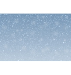 White snow falling on blue background vector