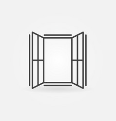 Window outline icon - concept sign vector