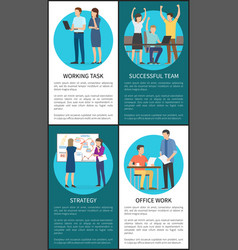 working task and strategy vector image