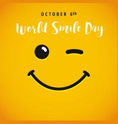 World smile day banner vector