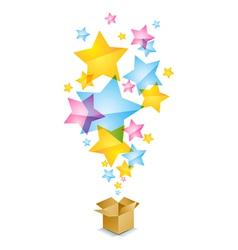 Box and stars vector