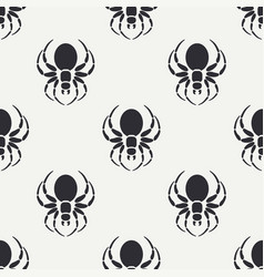 flat monochrome seamless wildlife fauna vector image