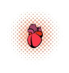 Human heart icon comics style vector image vector image