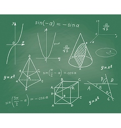 Mathematics - geometric shapes and expressions vector image vector image