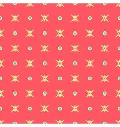 Star and polka dot geometric seamless pattern 40 vector image vector image