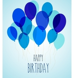 Birthday party balloons in blue vector image vector image