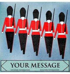 guardsmen marching vector image