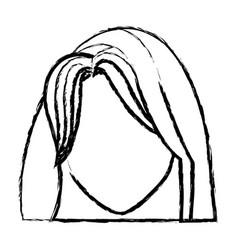 holy virgin mary cartoon face icon vector image vector image