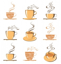 retro coffee vector image