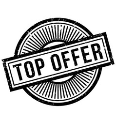 top offer rubber stamp vector image vector image