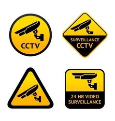 Video surveillance set symbols vector image vector image
