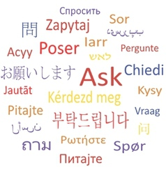 Ask in different languages vector image