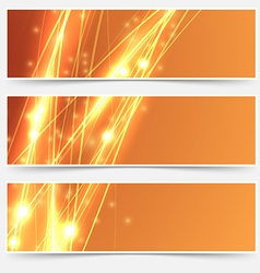 Bright swoosh speed line abstract header set vector image vector image