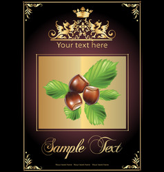 chocolate nuts and milk realistic vector image vector image