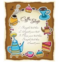 cute coffee frame 3 vector image