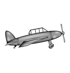retro military airplane sign icon vector image
