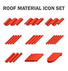 Roof tile icon vector